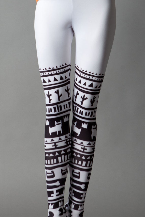 SALE White Tribe leggings