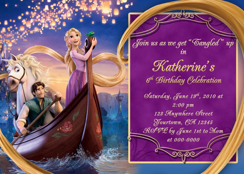 Rapunzel Invitations as Fresh Sample To Create Inspiring Invitations Card