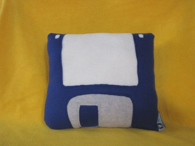 Floppy Disk Pillow 31/2 Inch Geek Chic Home by freakyfleece