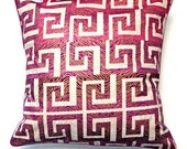 African Wax Print Pillow Cover (Jamia Natural)