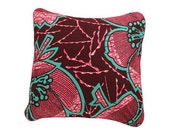 African Wax Print Pillow Cover (Mariama Natural)