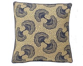 African Wax Print Pillow Cover  (Atu Natural)