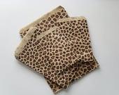 100 cheetah or leopard animal print paper bags 8.5 x 11 inch - RhinestoneHues