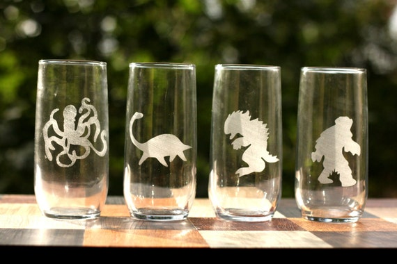 Monster Glasses - Weird Cryptozoology Glasses