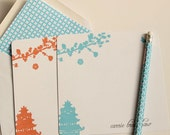 Personalized Note Cards Chinoiserie & Lined Envelopes (10) - LetterLoveDesigns