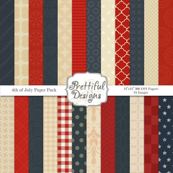 25% Off Sale Digital Paper pack - 4th of July (276)
