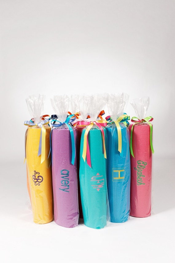 Unique Bridesmaid Gift Ideas: Custom Embroidered Yoga Mats
