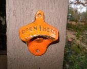 Orange Bottle Opener / Cast Iron /Vintage Inspired / Mancave /Kitchen Decor / - Theshabbyshak