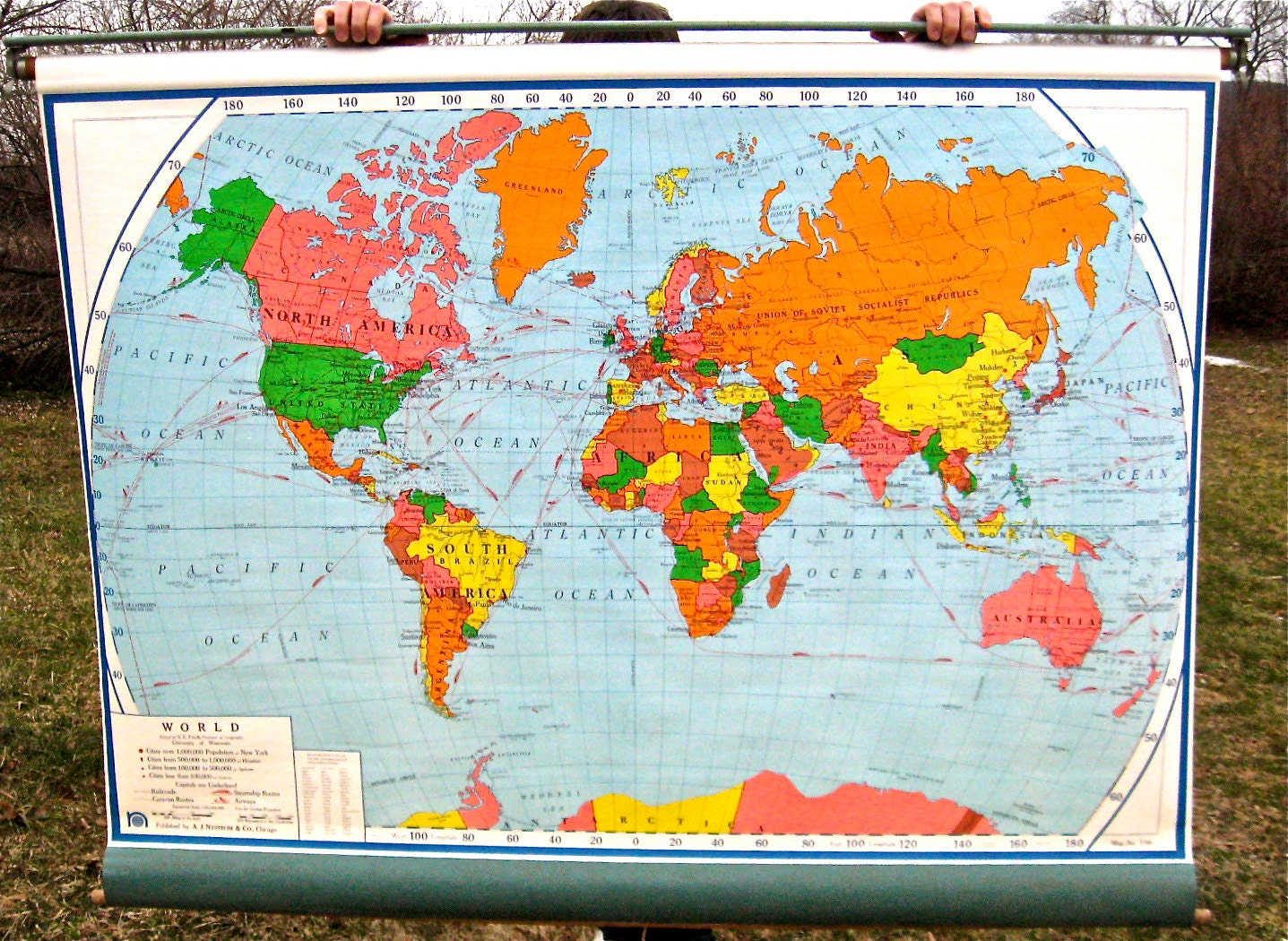 World map vintage etsy dinosauriensfo gumiabroncs Gallery