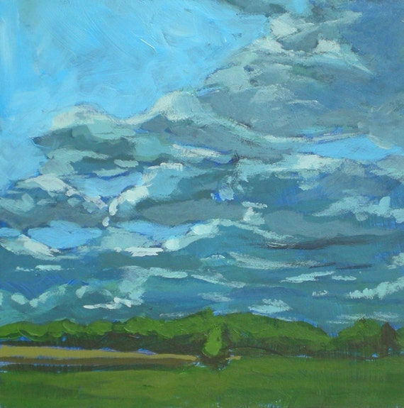 Clouds, Original Acrylic Painting
