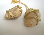 Wire Wrapped Pendant - Jerusalem Stone