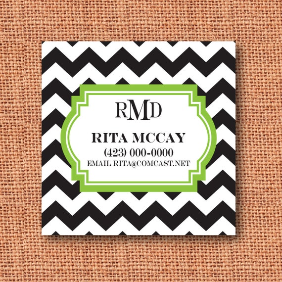 personalized calling cards, business cards, mommy cards,  gift tags, enclosure cards, labels, address labels, chevron