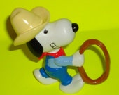 Retro 1980s Snoopy Cowboy PVC Figure - riverwest