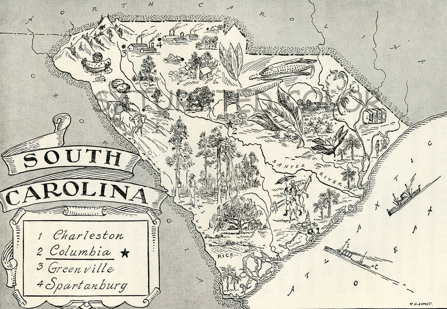 Detailed Map Of South Carolina State Research Project Final - Detailed map of south carolina