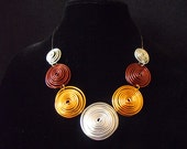 3 tone/3 piece wire scroll jewelry set