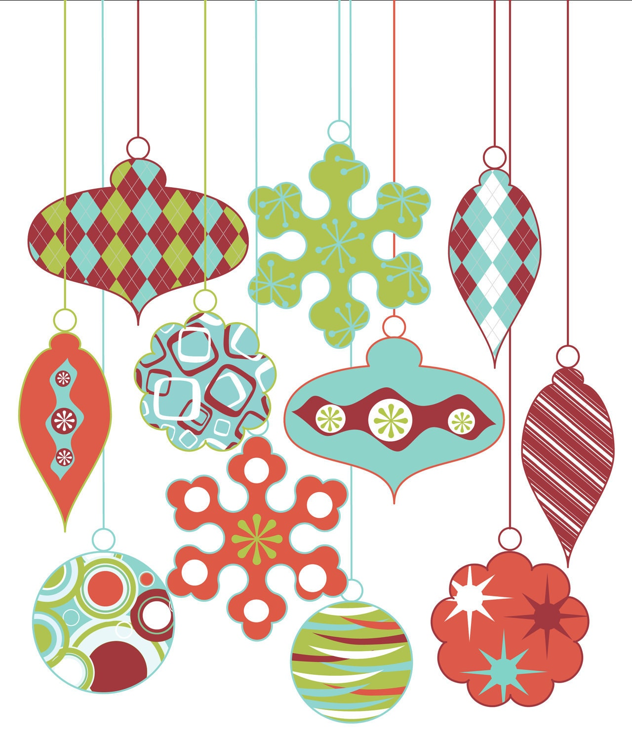 Royalty Free Vintage Christmas Clip ArtVintage Christmas Ornaments Clipart
