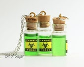 Zombie Virus Miniature Bottle Potion Necklace - BitOfSugar