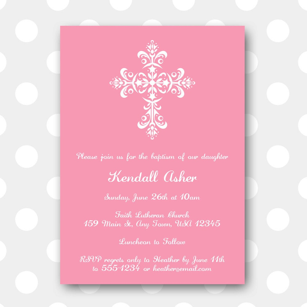 Free Printable Baptism Invitations could be nice ideas for your invitation template