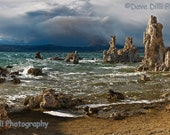 Mono Lake Photo Print Storm Drama California - Fine Art Panoramic 6 x 11 - DaveDilliPhotography