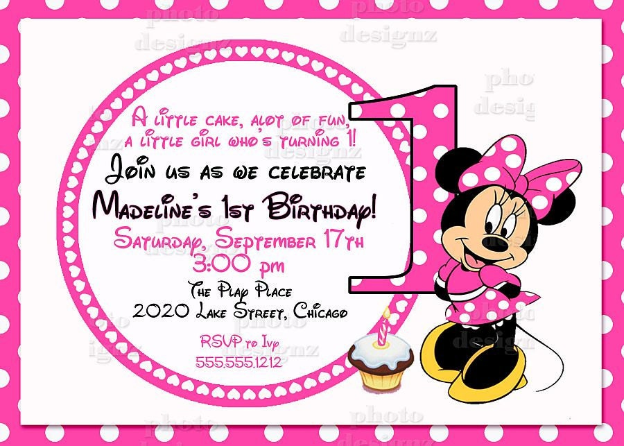 Minnie Mouse 1st Birthday Clipart Minnie Mouse Birthday Clip Art