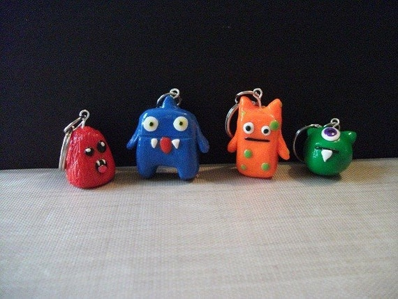 Monster Stitch Markers - Polymer Clay - Made to Order