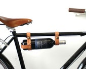Bicycle Wine Rack - Leather, Tan, Multi-Size - oopsmark