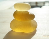 FREE and By Popular Demand - Yellow Stack of Sea Glass Art Print - From Seaham England - peblsrock