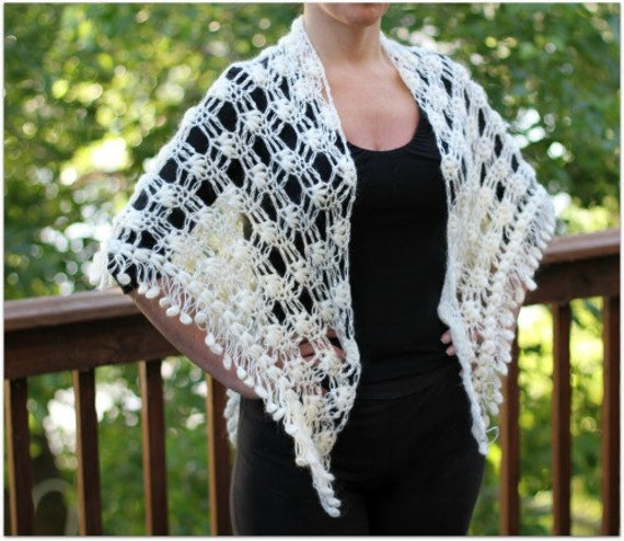 Crochet PATTERN Dainty Loops Shawl - Permission to Sell Finished Items
