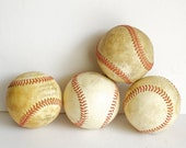 Old Baseballs Instant Collection Grouping Assemblage - ForestDaydream