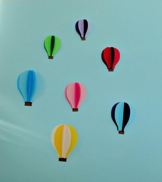 Hot Air Balloon 3D Paper Wall Art/Wall Decor