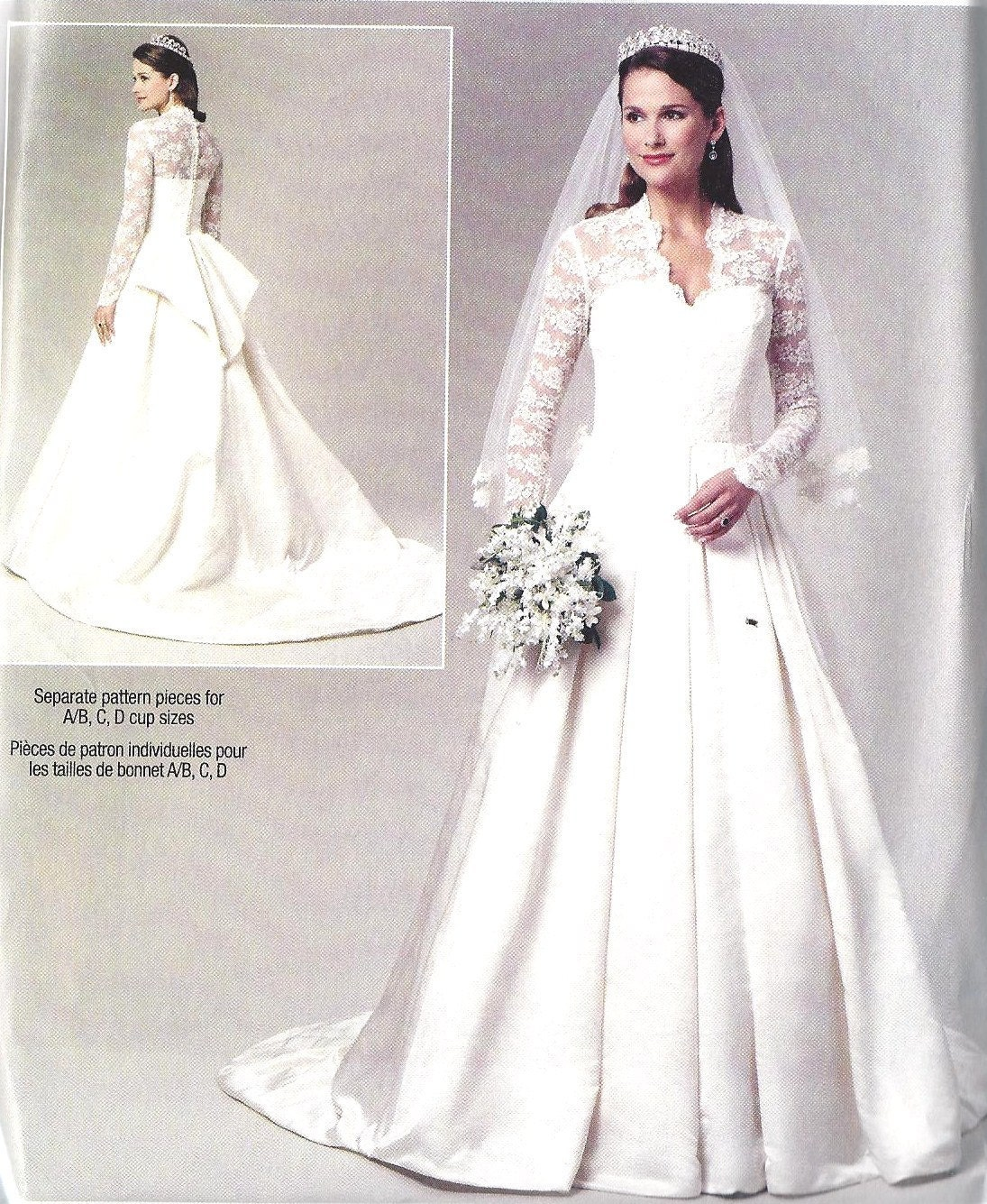 butterick plus size wedding dress patterns