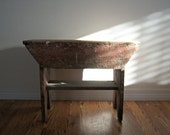 Vintage Homemade Wood Bench - RockySpringsVintage
