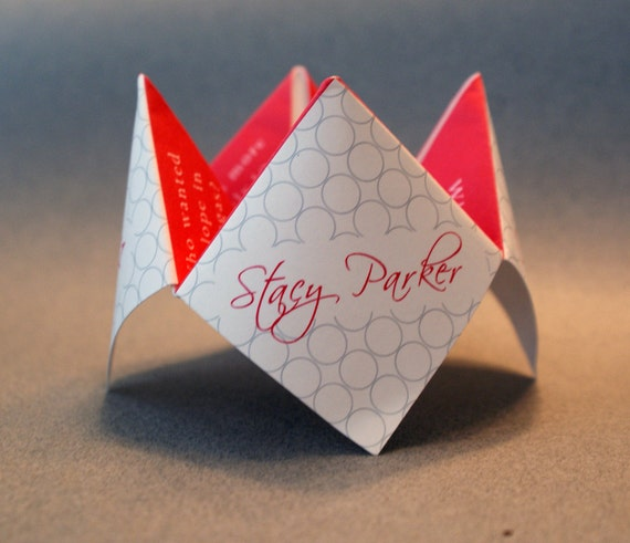Wedding Favor, Wedding, Decoration, Invitation, Program, Personalized, Cootie Catcher, Party Favor, Origami