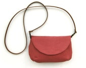 Long Leather Strap Fabric Purse - olula