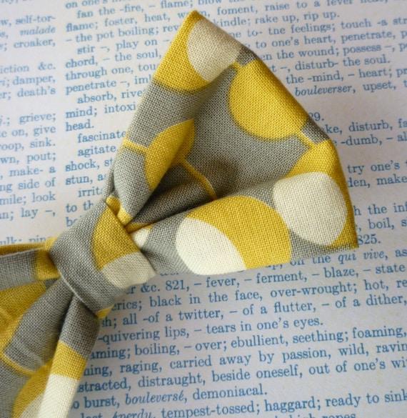 Mustard Martini Men's Bow Tie - clip on