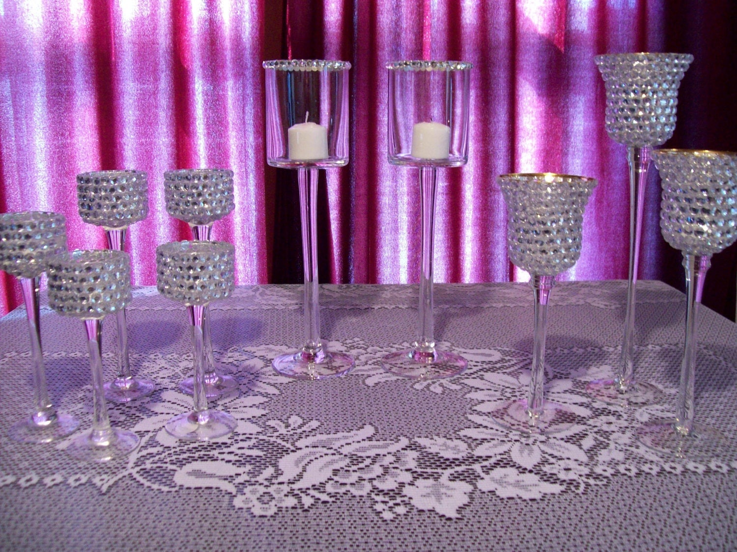 Rhinestone Vase, Swarovski Candle Holder, Swarovski Votive Holder ...