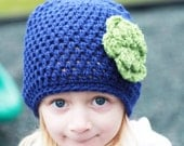 Flower Hat - Crochet Flower Beanie - Toddler Flower Hat - Toddler Crochet Hat - Girls Beanie - MyStitchInTime
