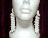 3 inch Curleycue Dangle Earrings
