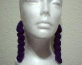 4 1/2 inch Dark Periwinkle Spiral Dangle Earrings