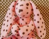Plush Polka Dot Floppy Earred Bunny