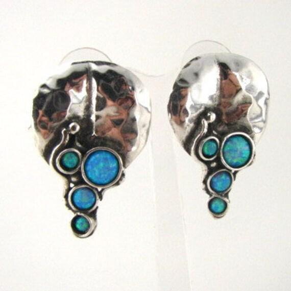 Hadar Jewelry Art Sterling Silver Opal Earrings (H 2663)Y