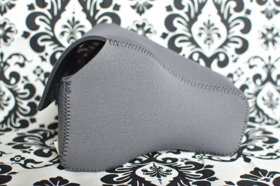 DSLR Camera Case - Charcoal Grey / black neoprene