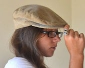 Vintage Tan Corduroy Pendleton Flat Golf Cap Medium - StoryTellersVintage