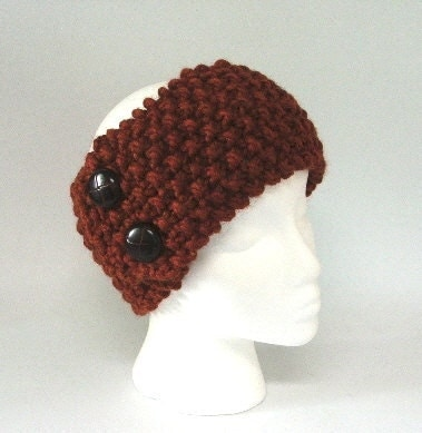 The Design Studio: Knitted Cable Head Band. Ear Warmer. Hand