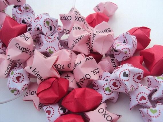 100 Valentine Hearts Origami Stars