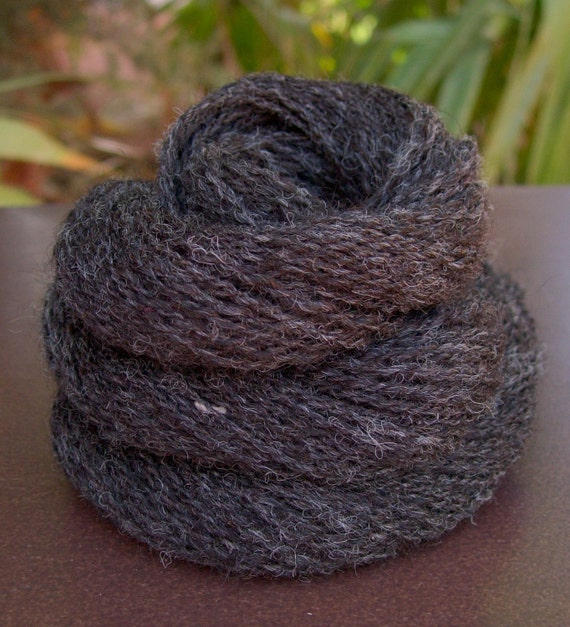 Handspun Yarn - superfine Alpaca, Huacaya and Suri blend, silky, 2-ply, sport weight