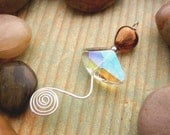 Amber and sterling silver spiral pendant:  Breeze Pendant - MadMamaMiller