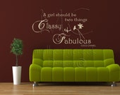 Coco Chanel Vinyl Wall Decal Sticker Lg