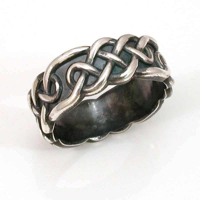 Mens Rings Silver on Celtic Knot Mens Ring Silver Handmade By Swankmetalsmithing