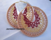 Shimmers of love Crochet hoops